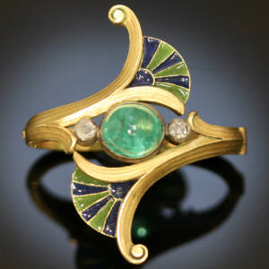 art nouveau jewelry similitude